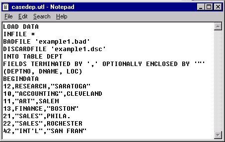 Oracle sql loader utility.
