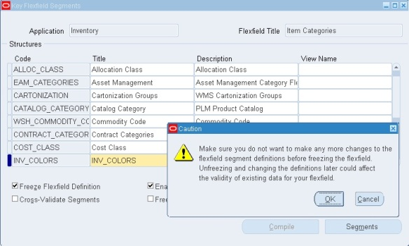 How to Create Category and Category Set in Oracle Inventory