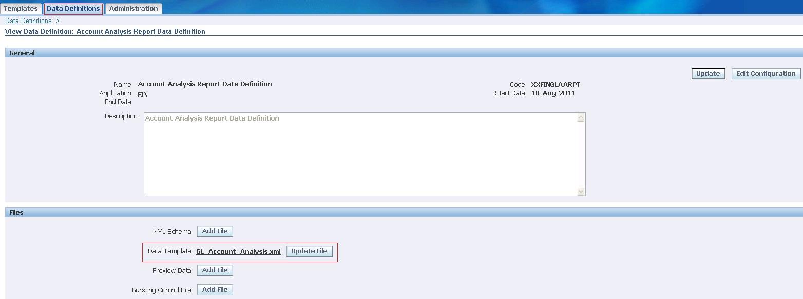 Create xml publisher report using data templates dibyajyoti koch data def for data template baditri Images